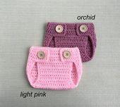 Neugeborene Windel Cover. Crochet Baby Bloomers für Jungen oder Mädchen, Geschlecht …   – Baby Clothing