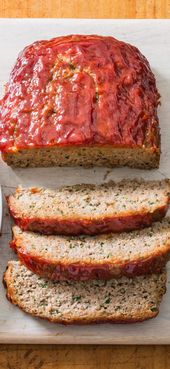 Turkey Meatloaf with Ketchup-Brown Sugar Glaze. Lean turkey's juices lack richness and body. Butter, Parmesan, and egg yolks add the former, and a f…
