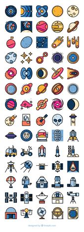 70 free vector icons of Universe designed by Freepik