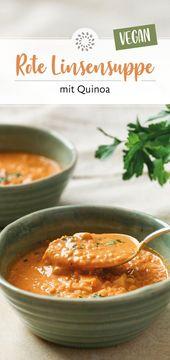 Red lentil soup with quinoa