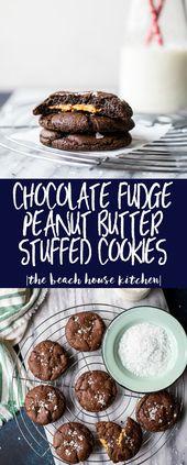 Chocolate Fudge Peanut Butter Stuffed Cookies | A …