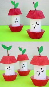 Paper Scroll Apfelsamen Handwerk für Kinder im Vorschulalter, Kindergärten und ältere Kinder. Verwenden   – Bastelideen Kinder