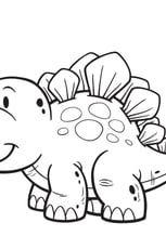 Coloriage Ere Des Dinosaures Le Stegosaure Dinosaur Coloring