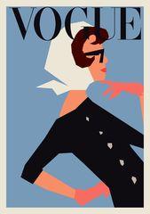 Vogue Printed Poster | Minimalist Print | Printed Poster | Geometric | 24×36, classic poster, vogue wall artwork.