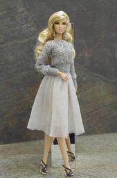 von GEMINI ' Pre-ORDER gestrickte Pullover Kleidung Outfit Mode für Fashion Royalty FR2 Mohn Parker Barbie Momoko