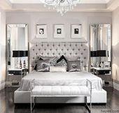 Gri ve Gümüş Tonlarında Yatak Odası Dekorasyonları | Hepev