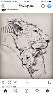 Die Liebe des Löwen … skizzieren Sie dieses Stück, machen Sie es sich selbst … – # Lion39s #Love #piece #s …