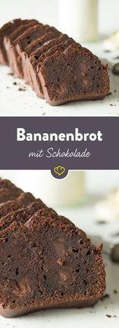 Um pouco decadente: com este pão de banana, mime-se com o chocolate duplo …   – Leckere Rezepte