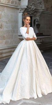 24 Top Brautkleider für die Braut ❤ Top Brautkleider Ballkleid mit langen …