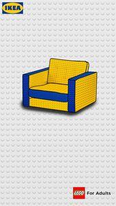 IKEA: Poster 2 #IKEA #LEGO #poster #minimal   – Social Media and Print Ads