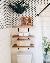 65 Perfect Bathroom Shelf Storage Ideas For Your Inspiration – Page 9 of 65 – Ch…   – bathroom ideas trends