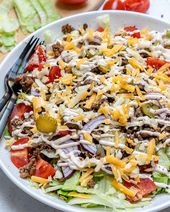 Cheeseburger Salad Bowls – Clean Eating Weight Loss – #Bowls #Cheeseburger #Clea… – Einfache Salat Rezepte