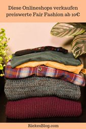 Fair Fashion is too expensive? – 5 fair online clothing stores for the small wallet