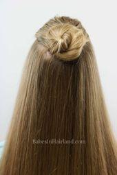 Easy Half-Up Top-Knoten und mein Name ist? – Neue Damen Frisuren