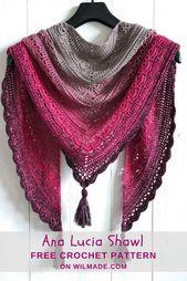 Ana Lucia Shawl – free crochet shawl pattern by