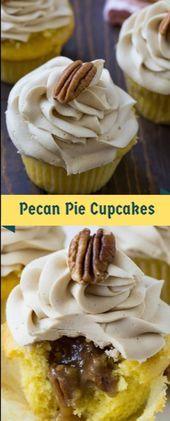 Pecan Pie Cupcakes #christmas #cupcakes  Pecan Pie Cupcakes eff a adhesive pecan…