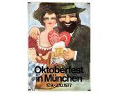 Oktoberfest in München 1977 Poster Munich Germany