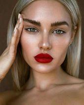 Bold lip l red lipstick looks l how to l natural makeup inspo l eyebrows   –   m a k e  u p  
