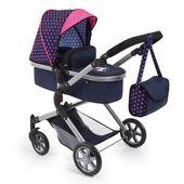 Landau poupée licorne BAYER bleu et rose avec sac à bandoulière et caddie intégré – poussette convertible   – Products