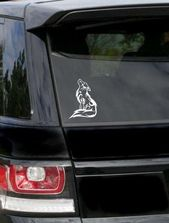 Sitting Howling Wolf Sticker-Wolf Tattoo-Wolf Emblem-Wolf Face-Tribal Wolf Car Window Yeti Laptop De