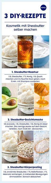 #Hautpflege-Rezepte-Sheabutter: Anwendungstipps für Haut und Haare   – Amanda W…