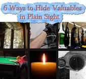 6 Ways to Hide Valuables in Plain Sight - LivingGreenAndFrugally.com |  survive | Pinterest | Facebook, Tutorials and To be