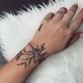 Tattoo leaves wrist hand jewelry – Glenda Garcia – Yeni Dizi