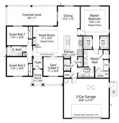 Craftsman Style House Plan – 3 Beds 2.5 Baths 1920 Sq/Ft Plan #938-95