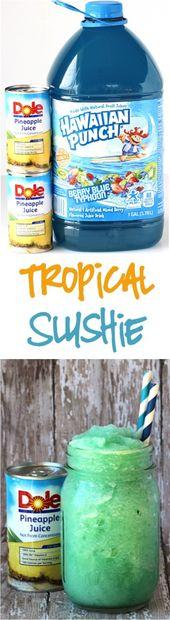 Lust auf etwas Verrücktes Leckeres? Dieses Easy Tropical Slush Rezept ist die perfekte …