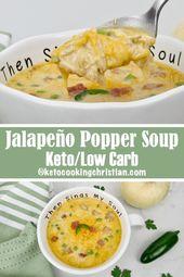 Jalapeño Popper Hühnersuppe – Keto und Low Carb Sind Sie ein Fan von Jalapeño …