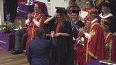 Man blasted for 'hijacking' girlfriend's commencement with marriage proposal