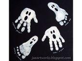 Bricolage enfants : 17 dessins D'Halloween avec les empreintes de mains et d…