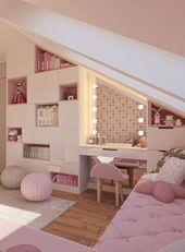 Gestaltungsidee für ein Mädchenzimmer im rosa Design – DIY Ideen