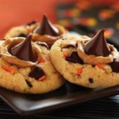 Funfetti Halloween Peanut Butter and Chocolate Cookies