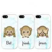 Emoji Affen beste Freunde umfasst (3-teilig)