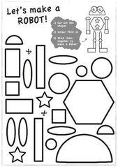 Build-a-Robot Shapes and Scissor Skills