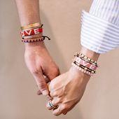 Africa Handmade (UBUNTU LIFE)RED LOVE Bracelet