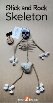 Make a SKELETON with sticks and have fun learning about bones! – Halloween Crafts and Ideas for Kids