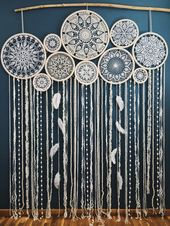 Photo of Dream eye-catcher wall hanging, boho chic decor, huge …