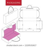 Vector Illustration of handle box.Package Template…