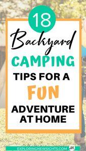 Backyard Camping | Tips för att göra det till ett roligt familjeäventyr