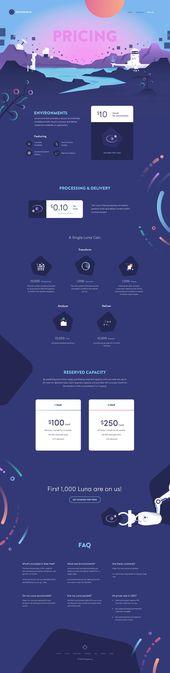 Diseño web de la página de inicio de la interfaz de usuario del sitio web de precios en …   – Landing page UI