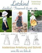 Baby Carrier latzkind trägerrock latzkleid für kinder nähanleitung freebook kostenlos