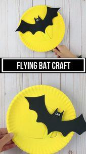Paper plate flying bat