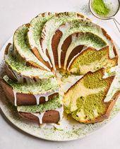 Matcha-Vanilla Sour Cream Pound Cake