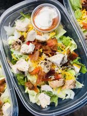Chicken Bacon Ranch Meal Prep Salads