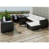 9-Sitzer Loungeset Delrico aus Polyrattan mit padWayfair.de   – Products
