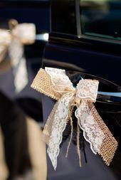 Autoschleifen zur Hochzeit: Tipps und kreative Ideen