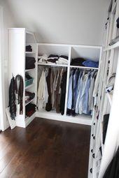 Kleiderschrank selber bauen – Schrank mit Schräge – Neueste Dekoration – Ankleide zimmer