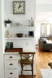 So verwandeln Sie einen Winkel in ein Büro, ohne einen Schreibtisch zu kaufen